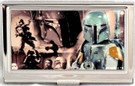 Star Wars Boba Fett Collage Small Metal Business Card Holder
