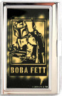 Star Wars Boba Fett Blaster Pointing Small Metal Business Card Holder