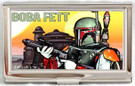 Star Wars Boba Fett Cloud City Small Metal Business Card Holder