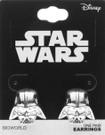 Star Wars Darth Vader Head Metal Silver/Chrome Pierced Earrings