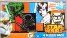 Star Wars Yoda Vader Luke Trooper Scenes 100pc 4 Mini Puzzles