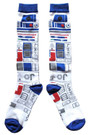 Star Wars R2-D2 Ugly Sweater Pattern Junior/Women's Christmas Socks Shoe Size 4-10
