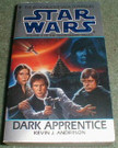 Star Wars Dark Apprentice Paperback novel(crease down cover)