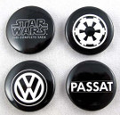 2011 Star Wars SD Comic Con VW Set 4 Buttons w/ Imperial Logo