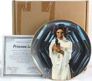 1987 Star Wars Princess Leia Plate in box with COA
