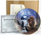1987 Star Wars Wicket and R2D2 Plate in box with COA
