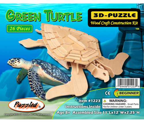 3D Puzzles Green Turtle