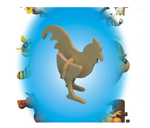 Mini 3D Puzzles Rooster