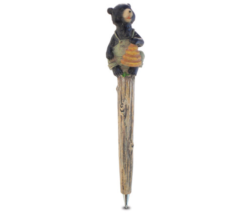 Resin Pen Black Bear With Honey