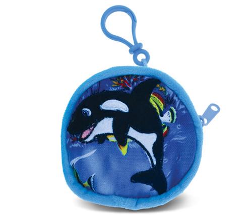 4 Inch Coin Bag Killer Whale