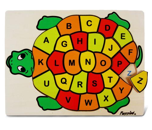 Raised Puzzle Abc Turtle