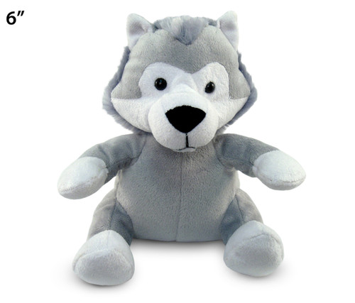 6 Inches Plush Wolf