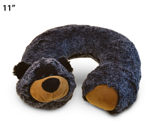 Super Soft Plush Neck Pillow Black Bear