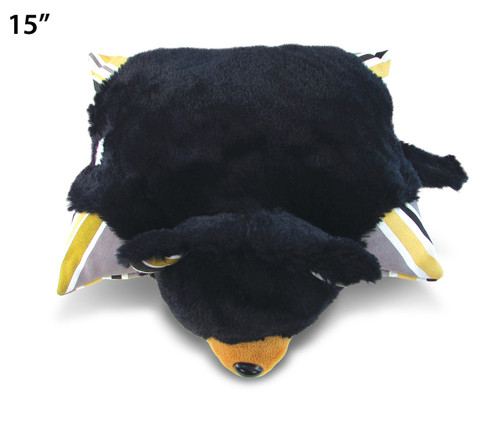 Stylish Plush Pillow - Black Bear