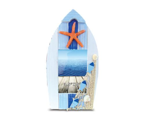 Light Blue Stripes Boat Frame Small Nautical Decor
