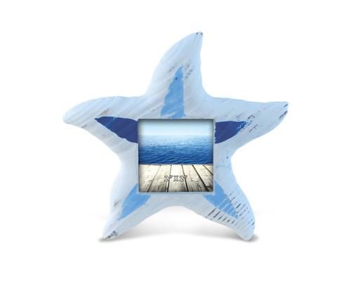 Light Blue Stripes Star Fish Photo Frame