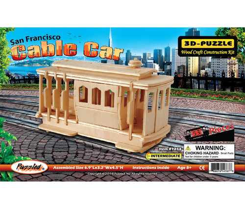3D Wooden Puzzles Cable Car