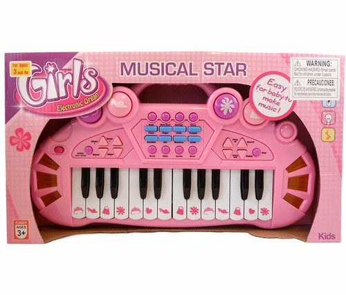 Pink Musical Star Electric Organ Kids Music Instrument