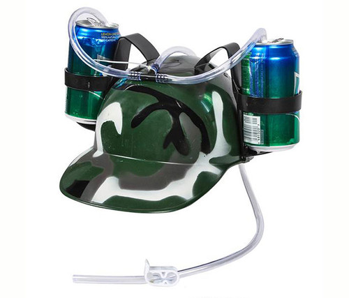 Camoflauge Drinking Helmet Party Hat Novelty Accessories