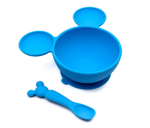 Baby Accessories Disney Mickey Mouse Silicone First Feeding Set