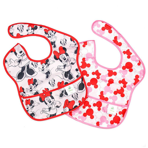 Disney Minnie Mouse Super Bib 2 Pack  Baby Accessories