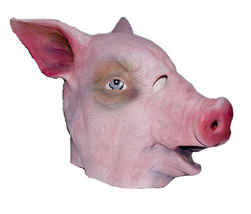 Realistic Pink Pig Animal Costume Mask Costume & Accessories