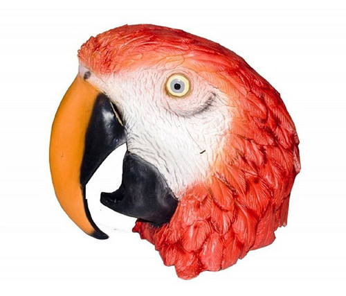 Tropical Red Parrot Bird High Quality Costume Mask  Costume & Accessories