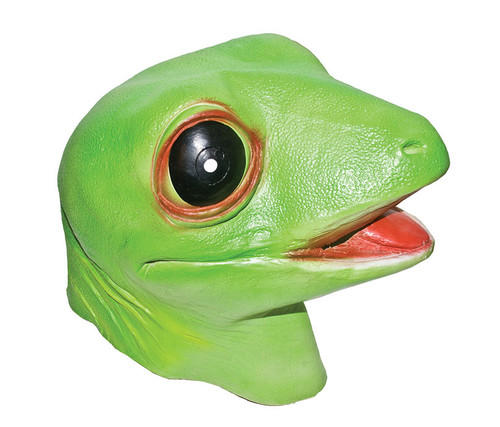 Lime Green Gecko Lizard Costume Mask Costume & Accessories