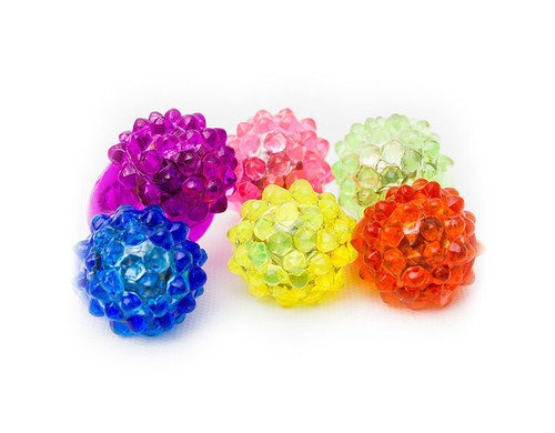 Assorted LED Jelly Bumpy Rings  Novelty Light Up Toy