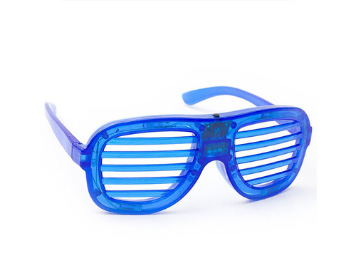 Blue LED Slotted Glasses Novelty Light Up Toy
