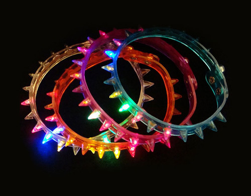 Assorted LED Spike Choker Necklace 12pcs Novelty Light Up Toy