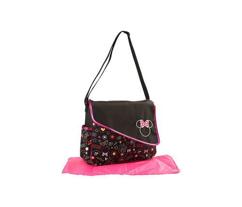 Disney Minnie Mouse Pink Graffiti Print Diaper Bag Baby Accessories