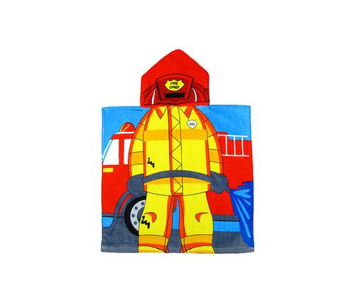 Kids Fireman Hooded Bath Towel Bath Towels
