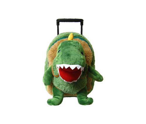 Children's T-Rex Plush Roller Backpack Kid's Luggage