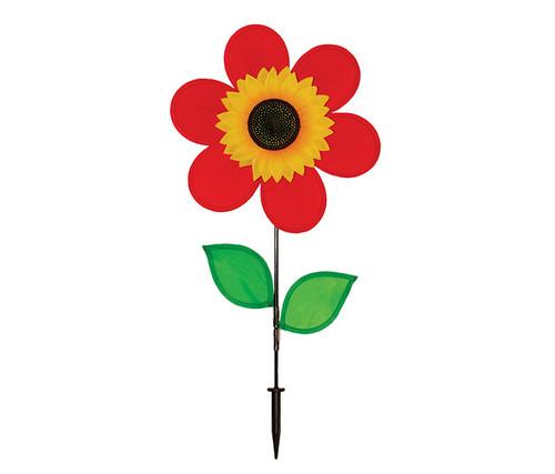 Red Sunflower Wind Spinner Garden Spinner