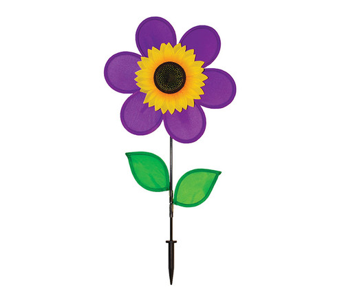 Purple Sunflower Wind Spinner Garden Spinner
