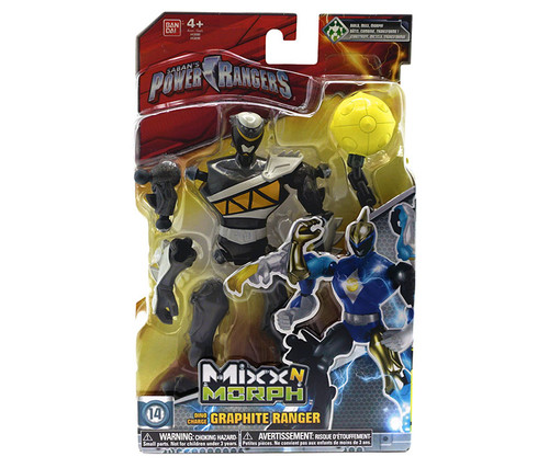 Power Rangers Mix N Morph Graphite Ranger Action Figure