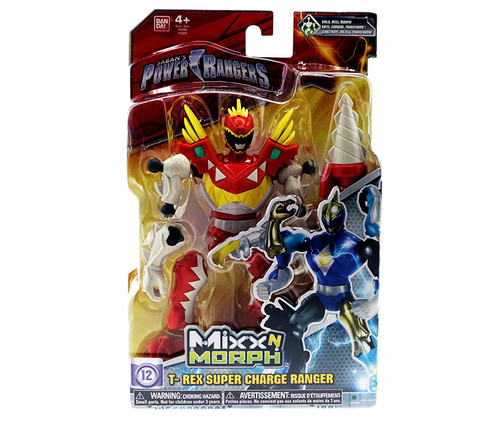 Power Rangers Mix N Morph T-Rex Super Charge Ranger Action Figure