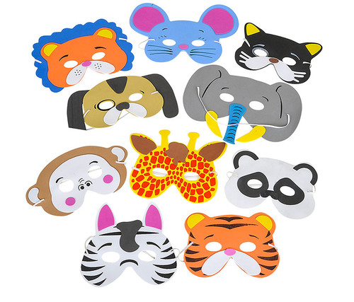 Foam Animal Masks 12 Pack Assorted  Costumes