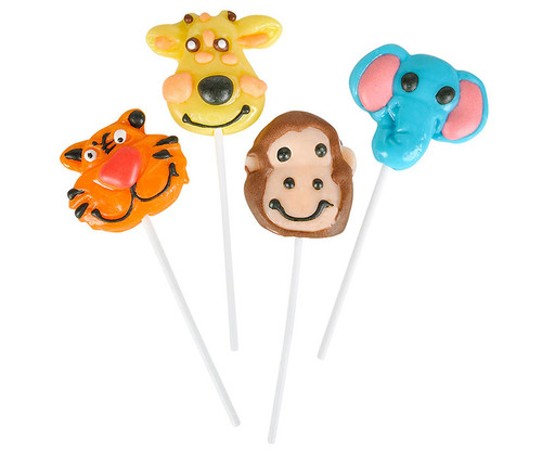 Zoo Animal Lollipops - 1 Dozen Candy