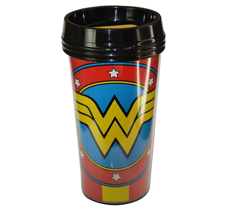Wonder Woman Red 16oz Travel cup Home-Kitchen