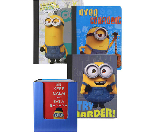 Minions Assorted Composition Books 4pc Set Notebooks