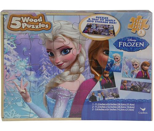 Disney Frozen 5 Wood Puzzles Set Puzzle