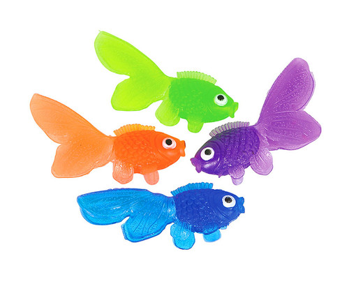 Colorful Vinyl Goldfish 144pc Set Bulk Novelties