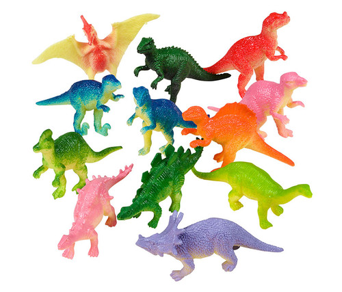 Assorted Colorful Dinosaurs 36pc Set Bulk Novelties