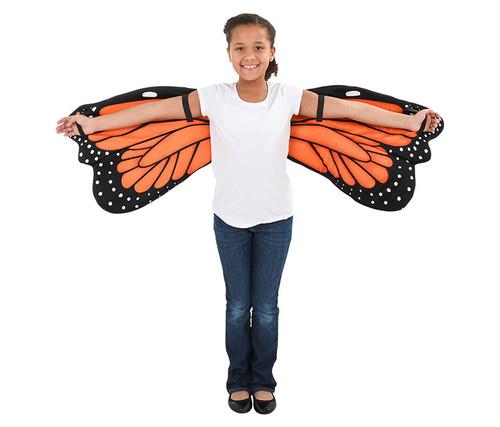 Orange Plush Monarch Butterfly Wings for Kids Kid's Costume