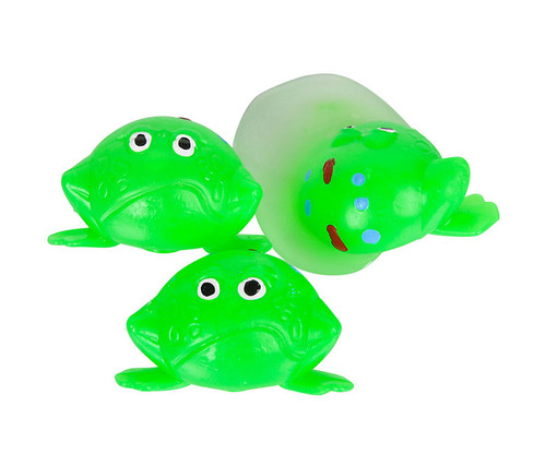 Splat Frogs 12 Piece Set Bulk Novelties