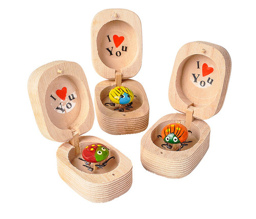 I love You Wiggly Ladybugs 12 Piece Set Bulk Novelties