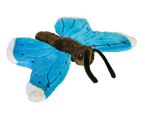Blue Morpho Butterfly Pounce Pal Stuffed Animal 9 inch Plush