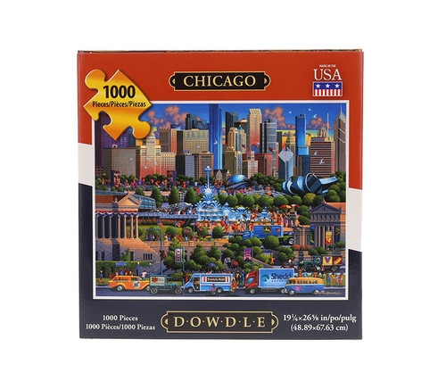 Chicago Jigsaw Puzzle 1000 Pieces Jigsaw Puzzles